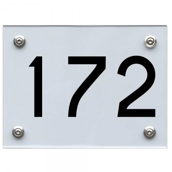 Hausnummernschild 172 schwarz