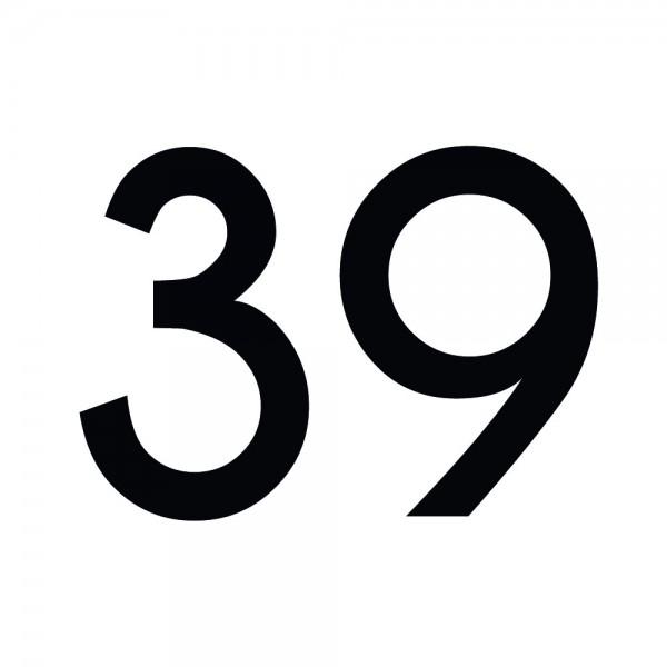 Zahlenaufkleber 39 schwarz
