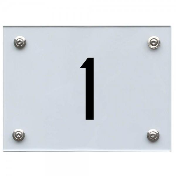 Hausnummernschild 1 schwarz