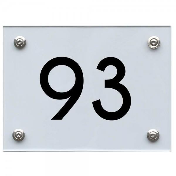 Hausnummernschild 93 schwarz