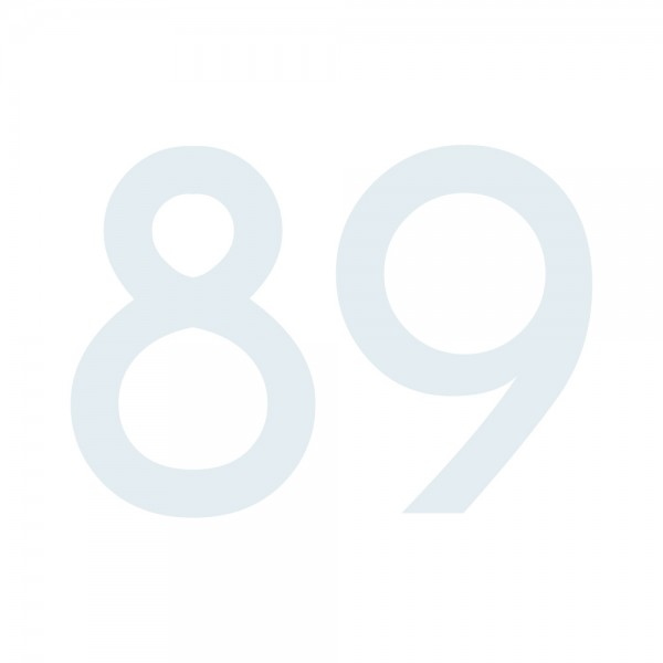 Zahlenaufkleber 89 weiß