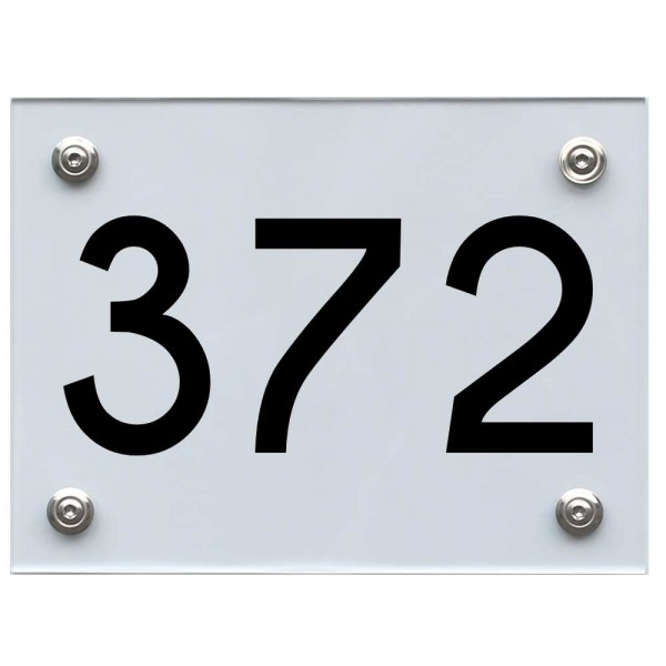 Hausnummernschild 372 schwarz