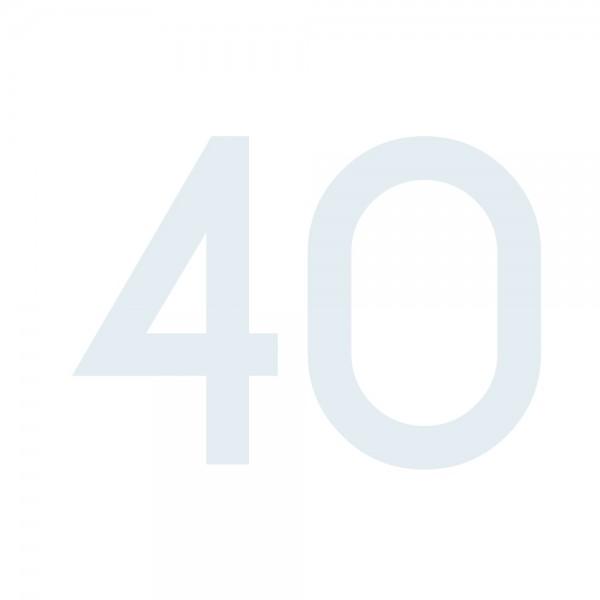 Zahlenaufkleber 40 weiß