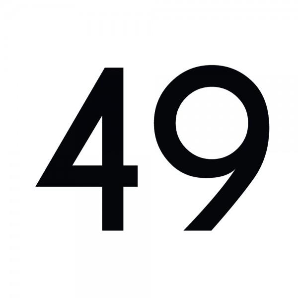 Zahlenaufkleber 49 schwarz