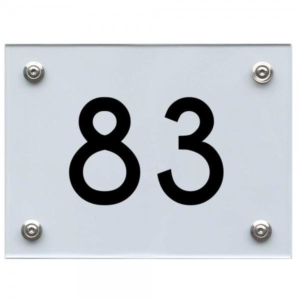 Hausnummernschild 83 schwarz