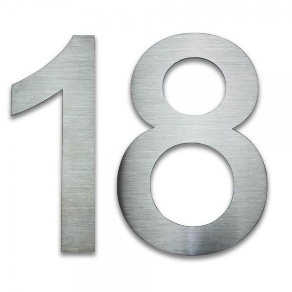Hausnummer Edelstahl 18