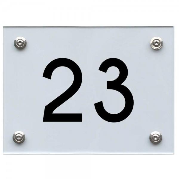 Hausnummernschild 23 schwarz