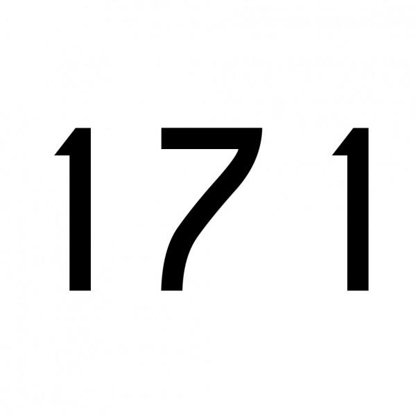 Hausnummer Aufkleber 171 schwarz