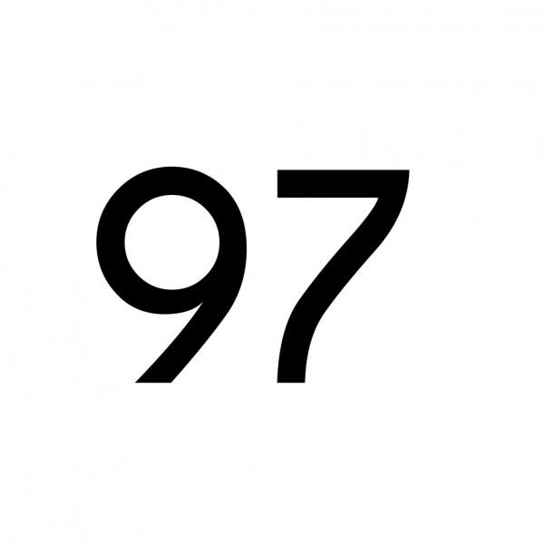 Hausnummer Aufkleber 97 schwarz