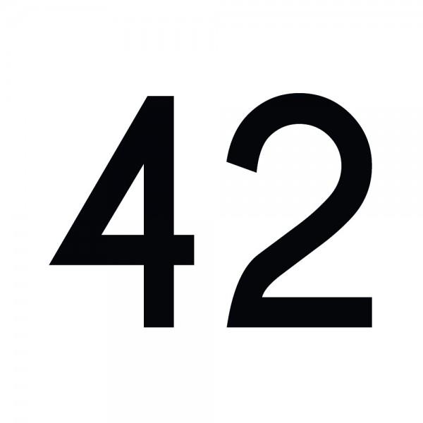 Zahlenaufkleber 42 schwarz