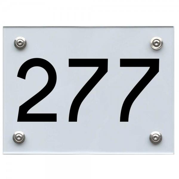 Hausnummernschild 277 schwarz
