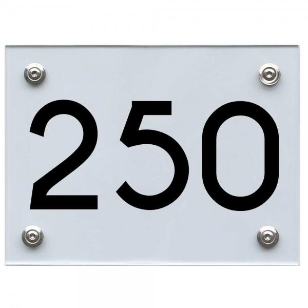 Hausnummernschild 250 schwarz