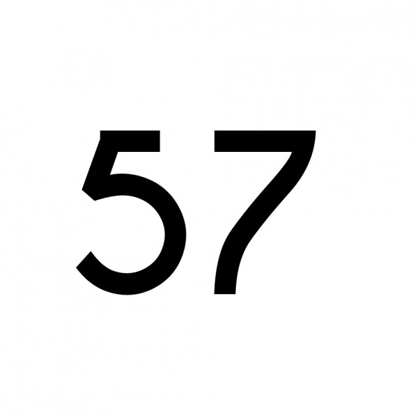 Hausnummer Aufkleber 57 schwarz