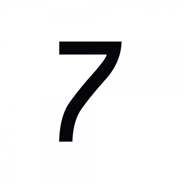 Zahlenaufkleber 7 schwarz