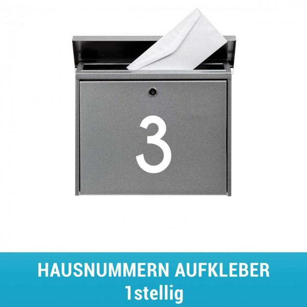 Hausnummern Aufleber 1stellig