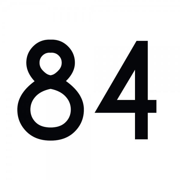 Zahlenaufkleber 84 schwarz
