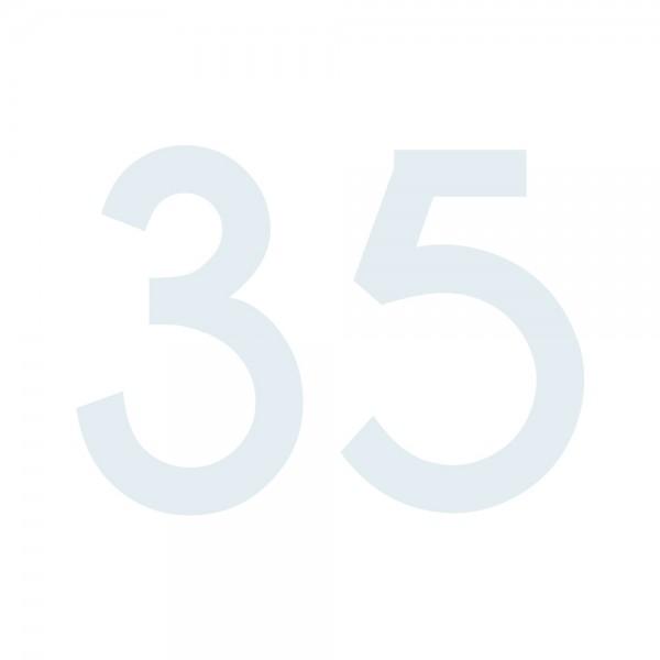 Zahlenaufkleber 35 weiß