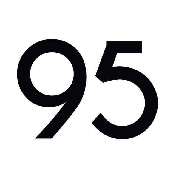 Zahlenaufkleber 95 schwarz