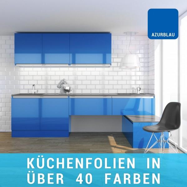 Küchenfolie azurblau