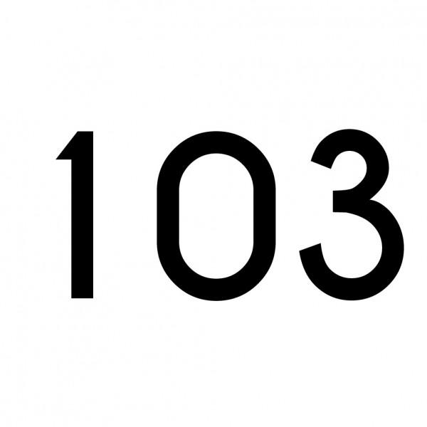 Hausnummer Aufkleber 103 schwarz