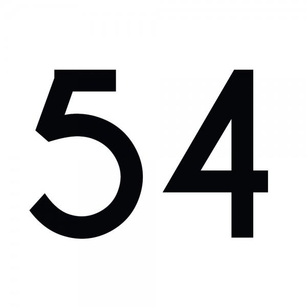 Zahlenaufkleber 54 schwarz