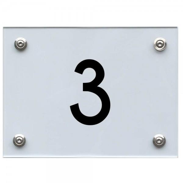 Hausnummernschild 3 schwarz