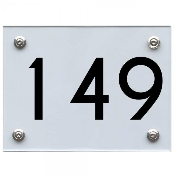 Hausnummernschild 149 schwarz