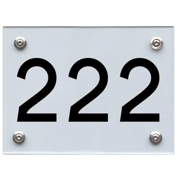 Hausnummernschild 222 schwarz