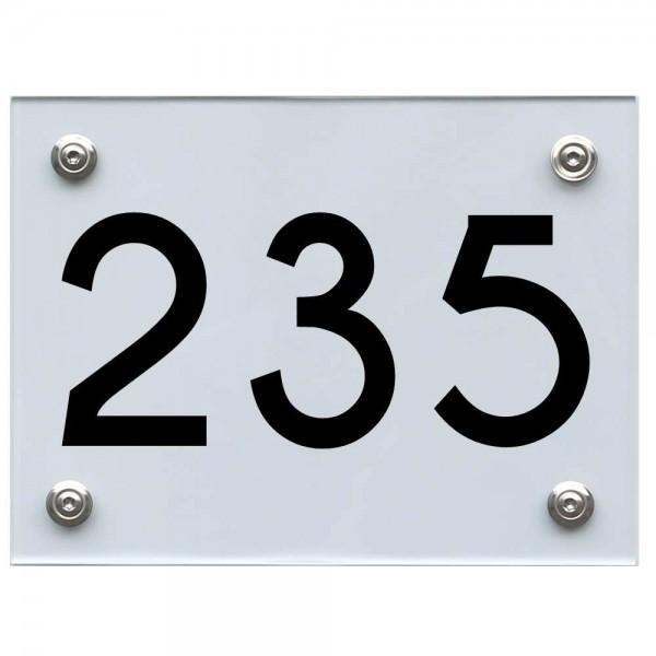 Hausnummernschild 235 schwarz