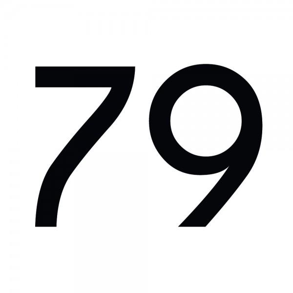 Zahlenaufkleber 79 schwarz