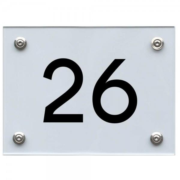Hausnummernschild 26 schwarz