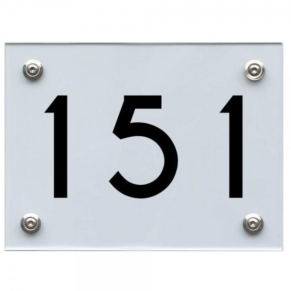 Hausnummernschild 151 schwarz