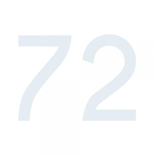 Zahlenaufkleber 72 weiß