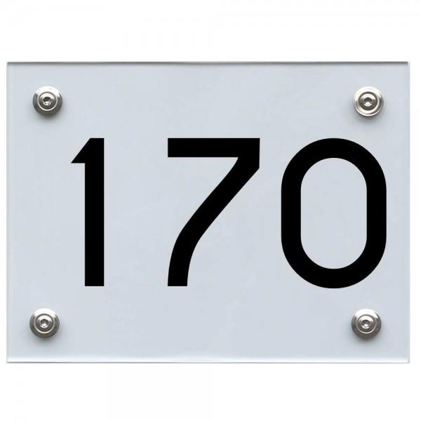 Hausnummernschild 170 schwarz