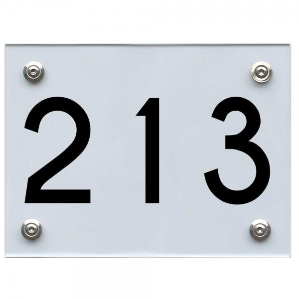 Hausnummernschild 213 schwarz