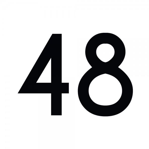 Zahlenaufkleber 48 schwarz