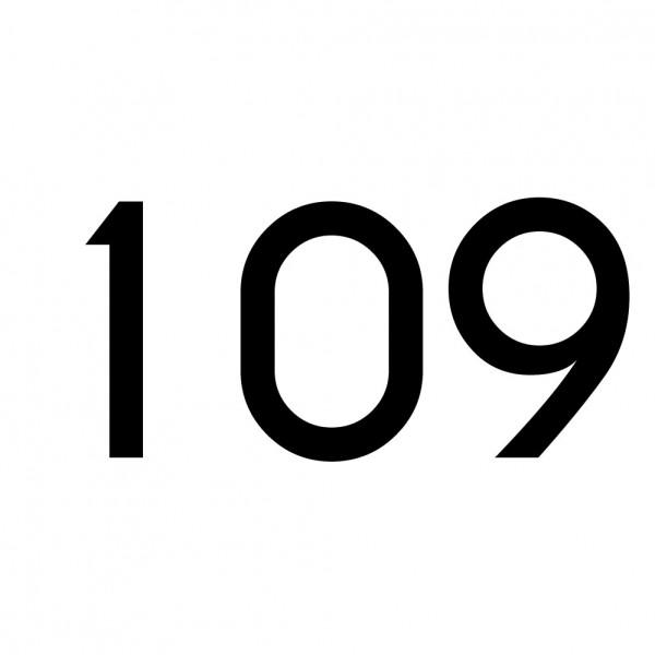 Hausnummer Aufkleber 109 schwarz