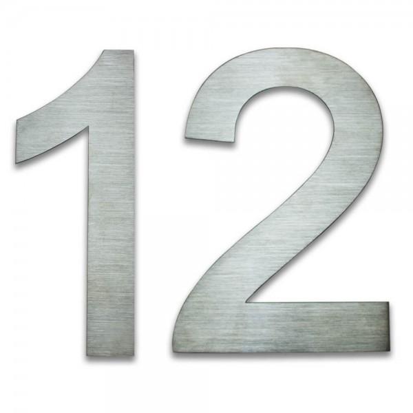 Hausnummer Edelstahl 12