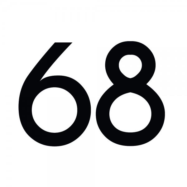 Zahlenaufkleber 68 schwarz
