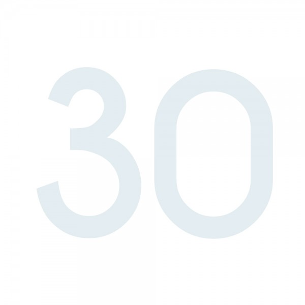 Zahlenaufkleber 30 weiß