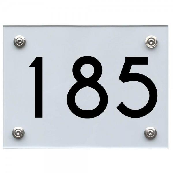 Hausnummernschild 185 schwarz