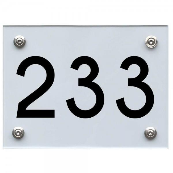 Hausnummernschild 233 schwarz