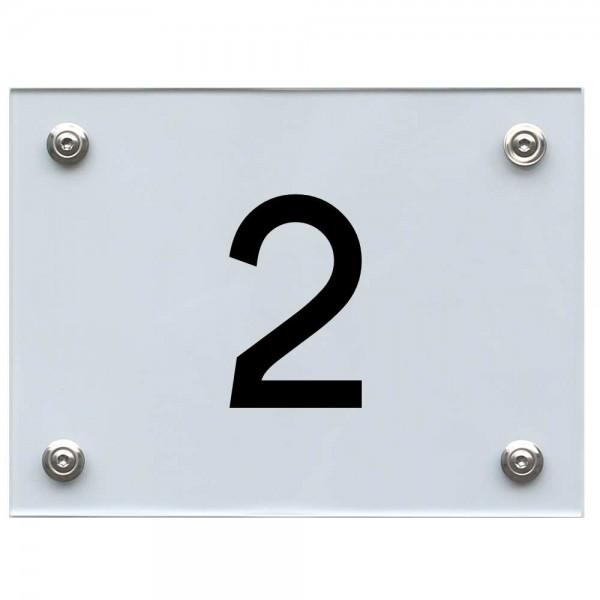 Hausnummernschild 2 schwarz