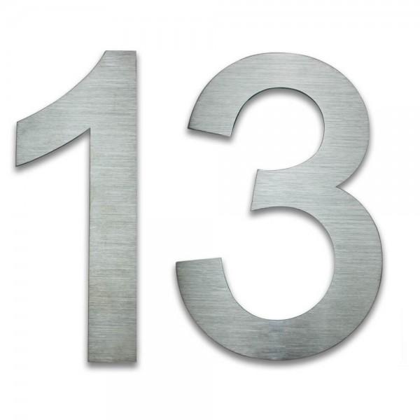 Hausnummer Edelstahl 13