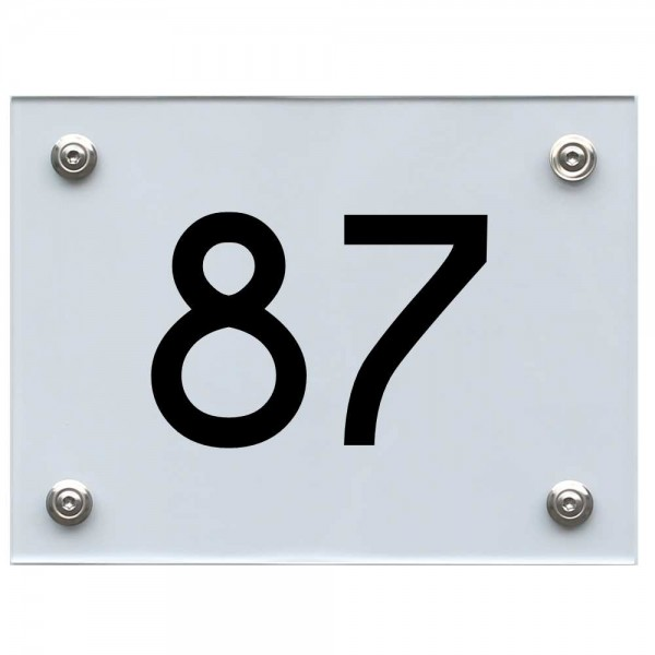 Hausnummernschild 87 schwarz