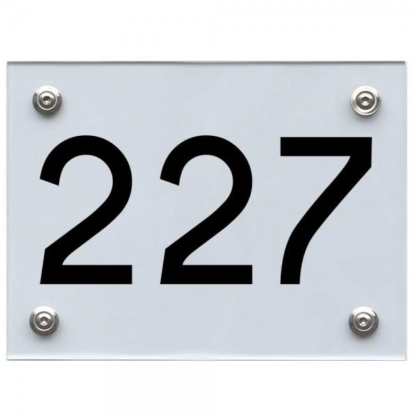 Hausnummernschild 227 schwarz