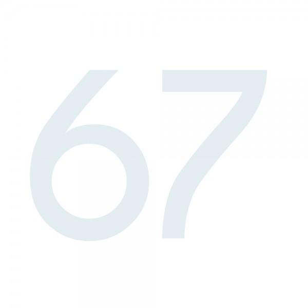 Zahlenaufkleber 67 weiß