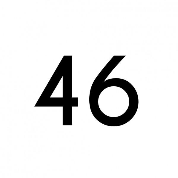 Hausnummer Aufkleber 46 schwarz