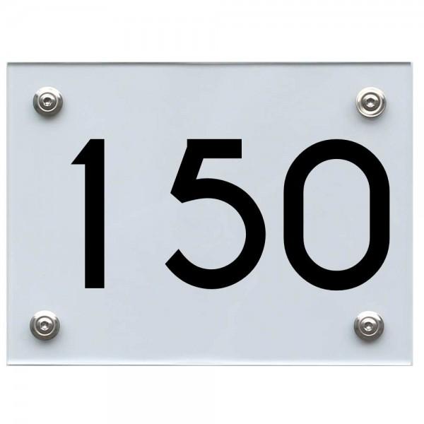 Hausnummernschild 150 schwarz