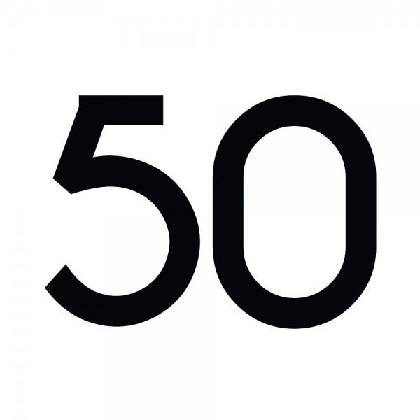 Zahlenaufkleber 50 schwarz